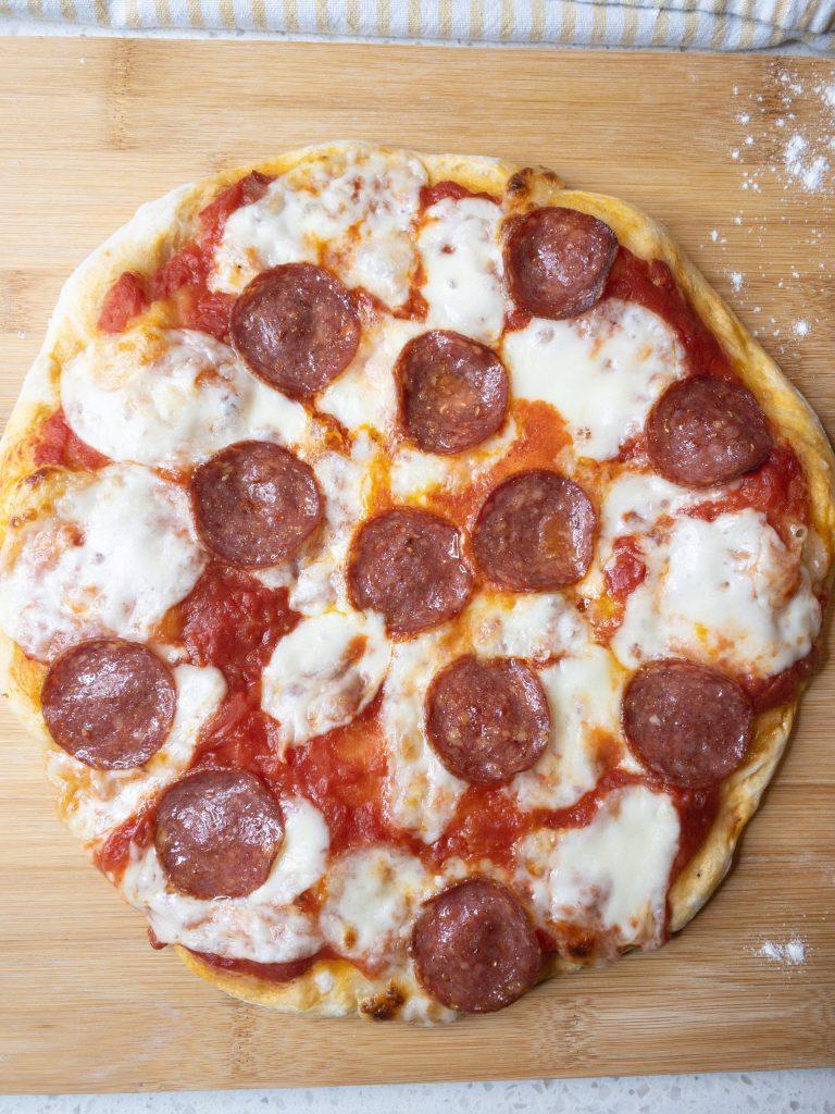Traditional Salami Pizza