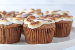 S'mores Cereal Milk Muffins