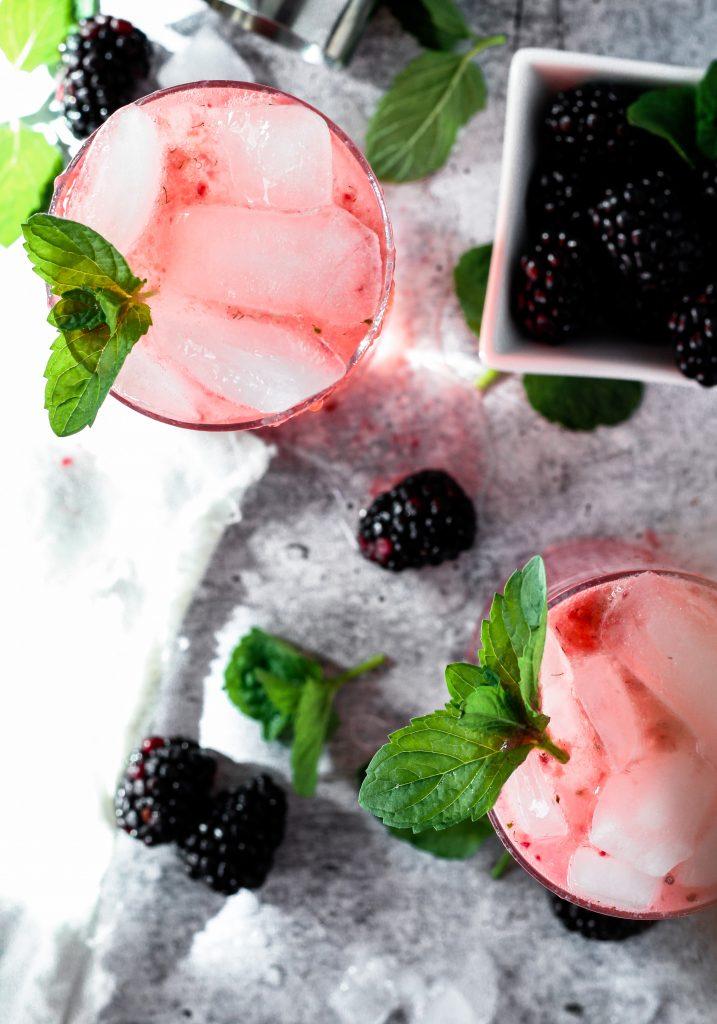 skinny blackberry moscow mule